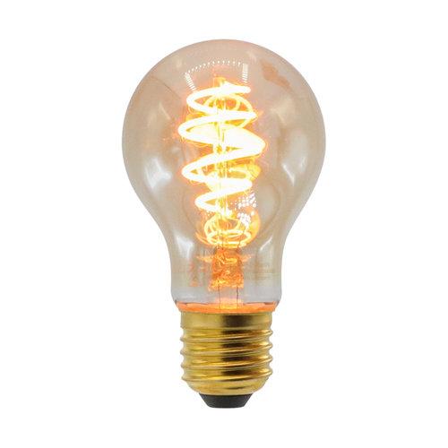 Ampoule spirale croissant 5W, 1800K, verre ambré Ø60 - dimmable