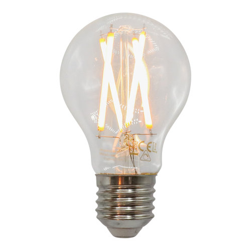 Ampoule 7W & 9W, 2200-2700K, verre clair Ø60, dimmable