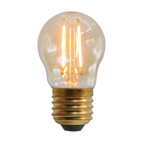 Ampoule à incandescence 2,5W & 4,5W, 2000K, verre ambré Ø45 - dimmable