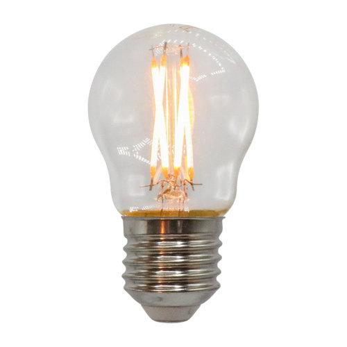 Ampoule 2,5W & 4,5W, 2200-2700K, verre clair Ø45, dimmable jusqu'à chaud