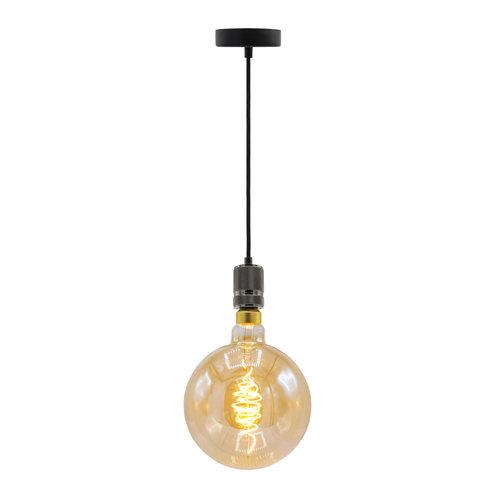 Lampe spirale croissant 8.5W XXXL, 2000K, verre ambré Ø200 - dimmable