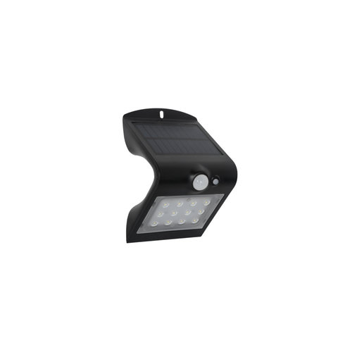 Applique solaire Alien 1.5W avec capteur - noir