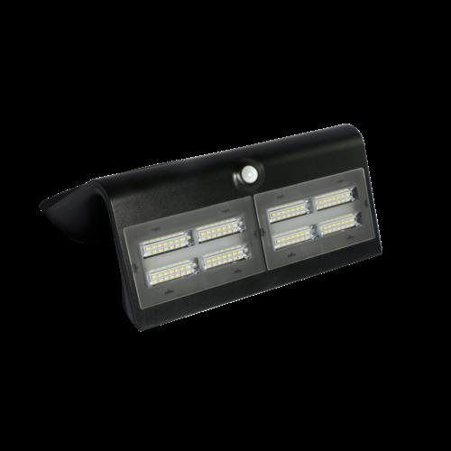 Applique solaire noire avec capteur Double Conan, 6.8W