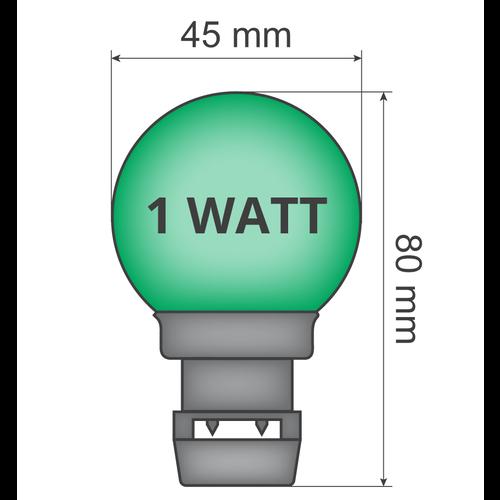 Ampoule - Vert (sans raccord E27)