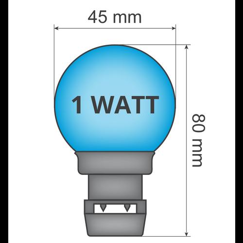 Ampoule - Bleu (sans raccord E27)