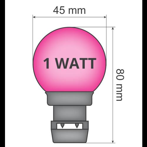 Ampoule - Rose (sans raccord E27)