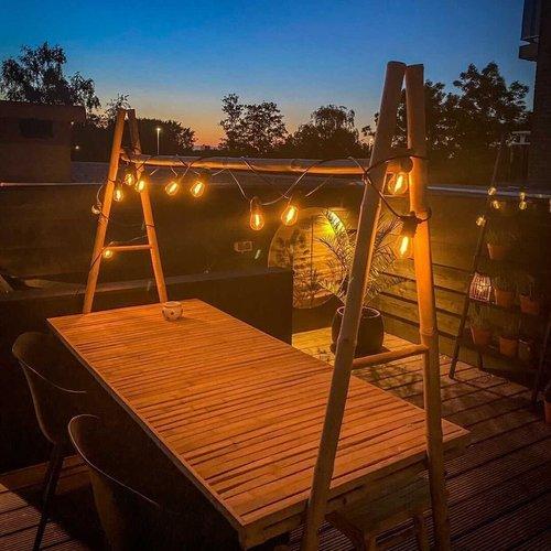 Guirlande solaire pour l'extérieur avec 12 lumières - 8 mètres