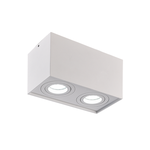 Spot design Timmy 2-lampes - blanc
