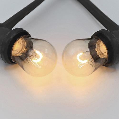 Kit guirlande avec ampoules à filament LED en forme de U de 1 watt, à intensité variable