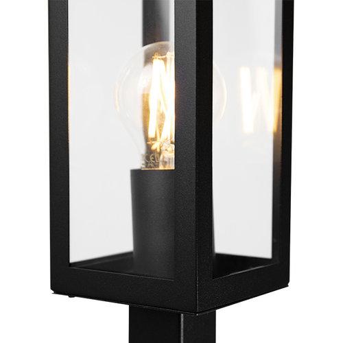 Lampadaire industrielle Alessio noire avec verre, 80cm