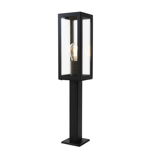 Lampe extérieur industrielle noire Alessio avec verre, 50 cm