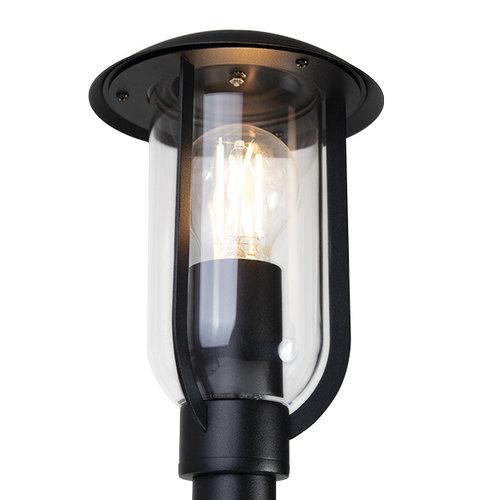 Lampadaire rurale noire Alessandro, 80cm