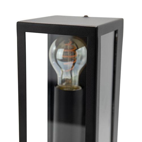 Applique murale noire Diana 2 lampes avec verre
