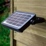 Applique solaire Robo avec capteur, 5W - noir