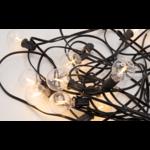 Guirlande solaire d'extérieur avec 20 petites lampes rondes - 10 mètres