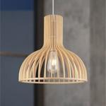 Lampe suspendue de style rustique en bois naturel - Bali