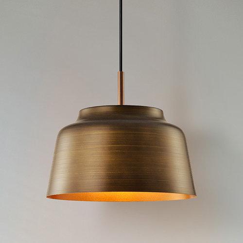 Lampe suspendue rurale en bois naturel - New York