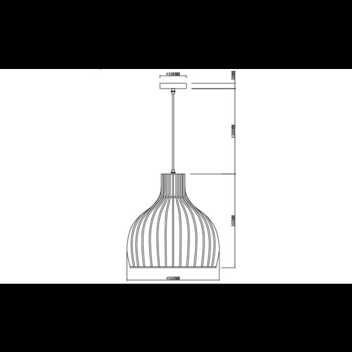 Lampe suspendue style rurale avec bois naturel - Hanoï