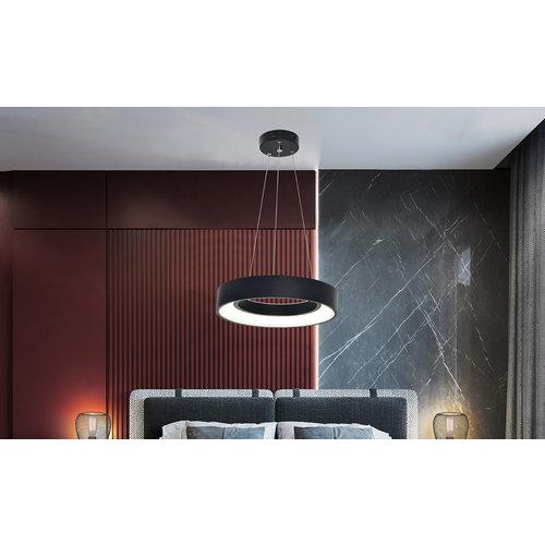 Lampe suspendue moderne en métal noir - Roundy (lampe intégrée)