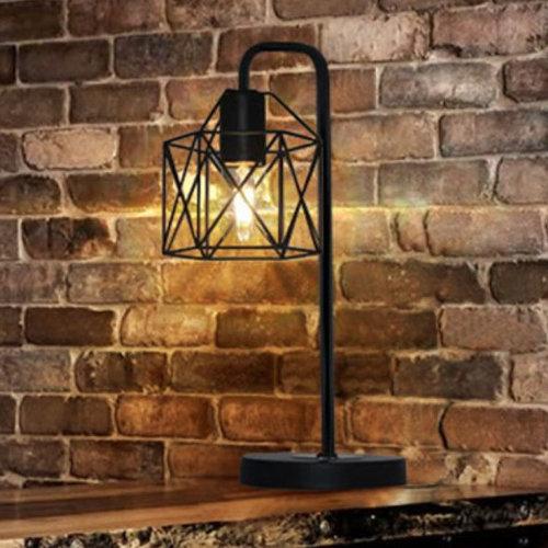 Lampe de table industrielle en métal noir - Pérou