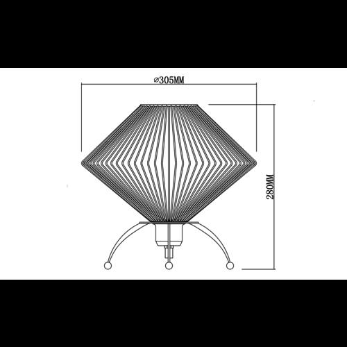 Lampe de table industrielle en métal noir - Spider