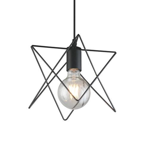 Lampe suspendue industrielle en métal noir - Star