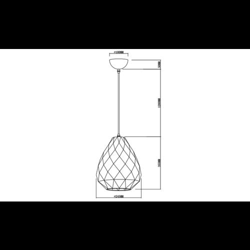 Lampe suspendue design noir brillant deco - Jupiter