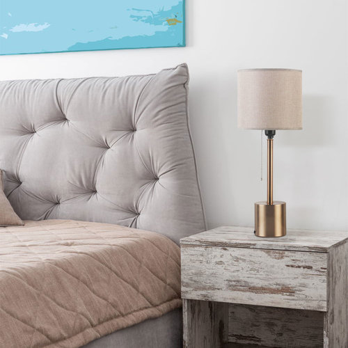 Lampe de table romantique avec abat-jour en tissu - Valence