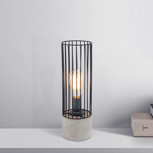 Lampe de table industrielle noire avec base robuste - Palma