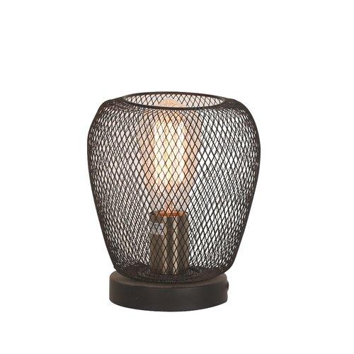 Lampe de table industrielle noire avec construction en métal - Prison