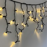 Guirlande stalactite | 36 mètres avec 1368 lampes - Blanc chaud