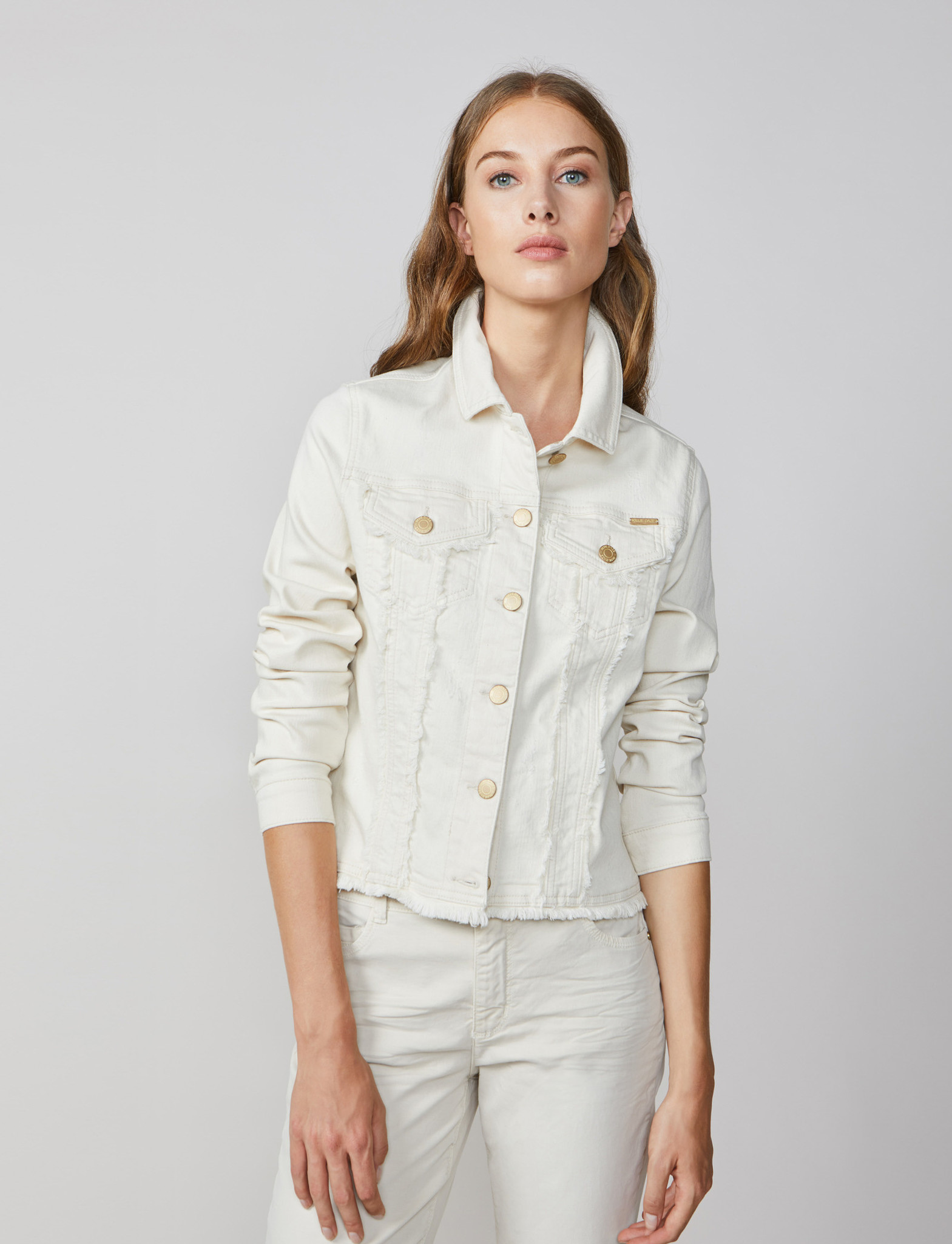 Summum 1s1008 5061 Basic jeans jacket organic off white twill Kit