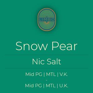 Zap Snow Pear (Nic Salt)