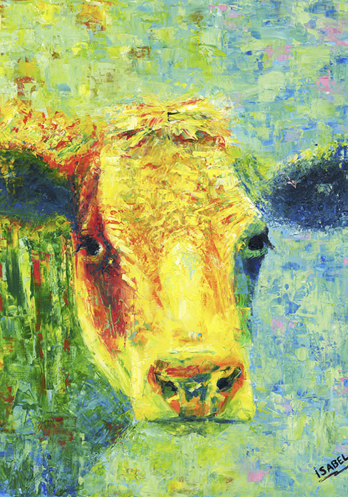 Oil Painting Cow made by Isabel