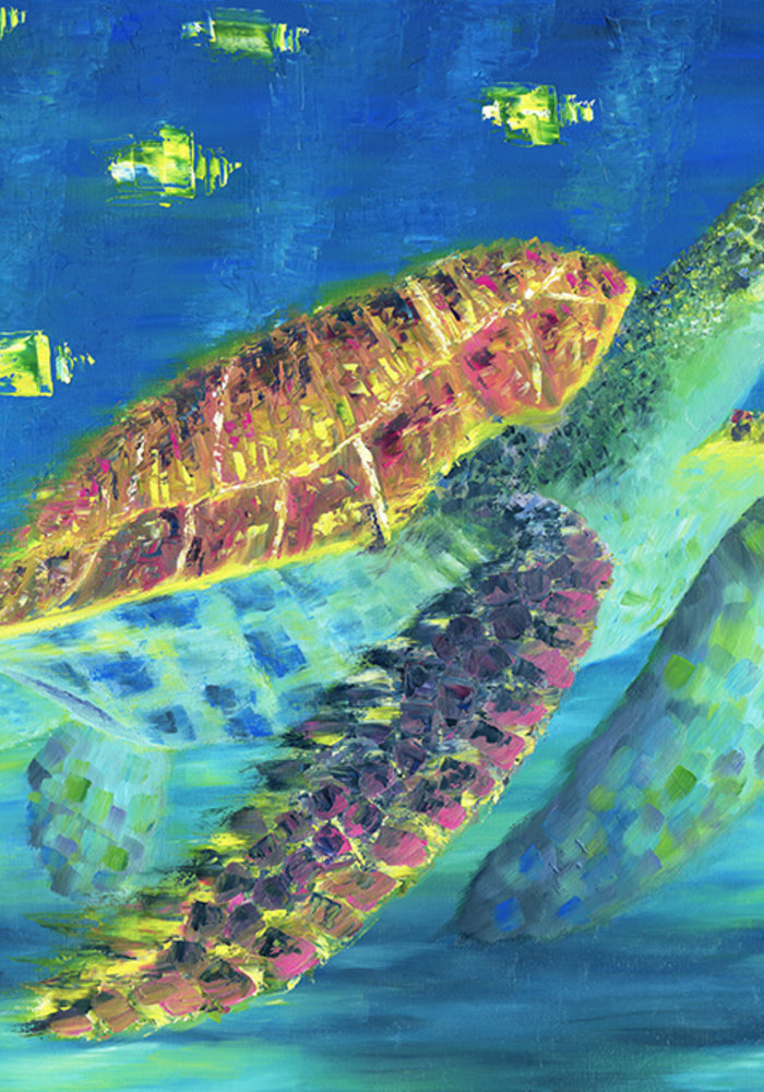 Oil Painting Sea Turtle made by Isabel