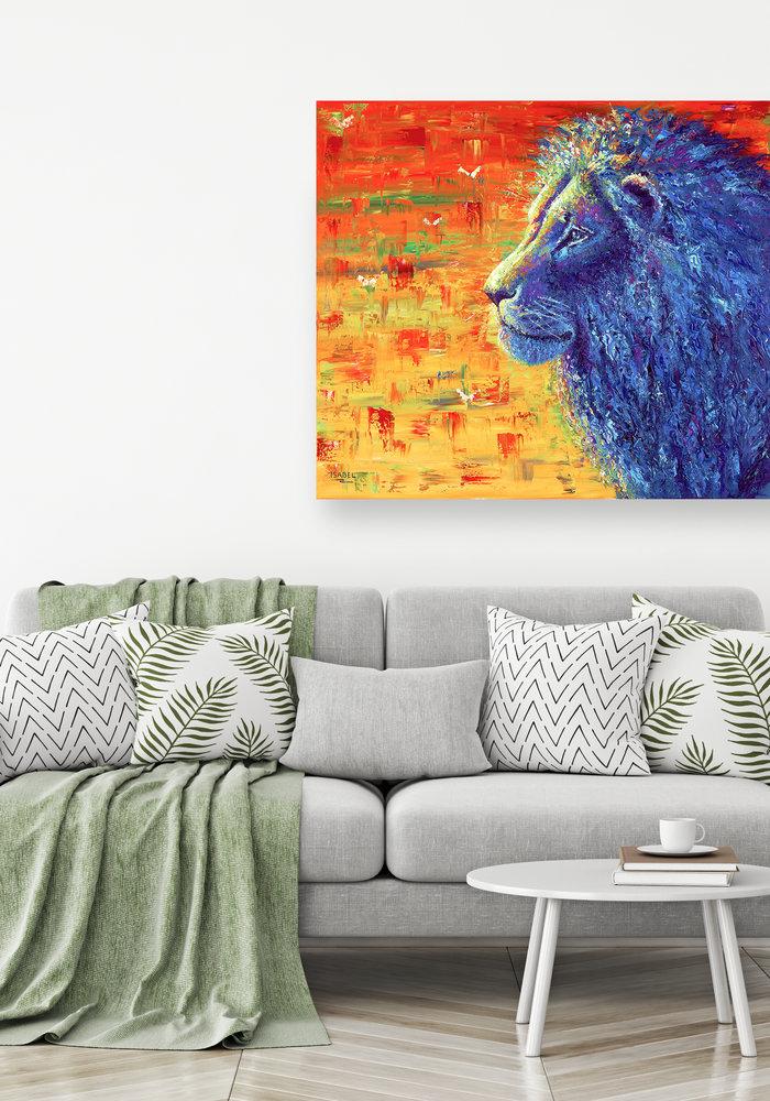 Olie Schilderij Leeuw gemaakt door Isabel