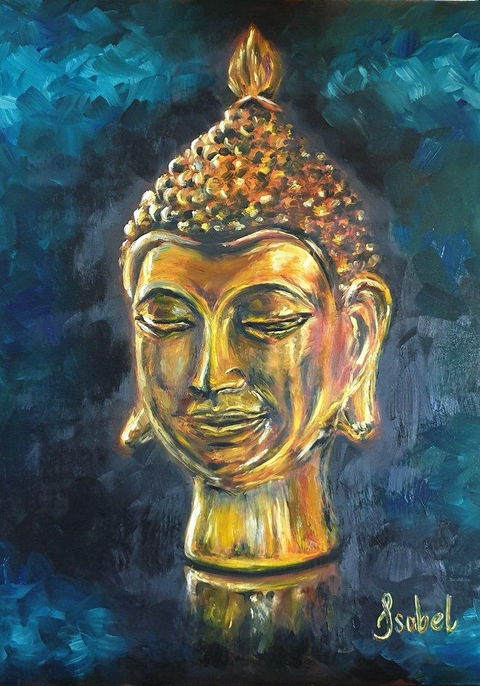 Twitch Olie Schilderij Buddha gemaakt door Isabel