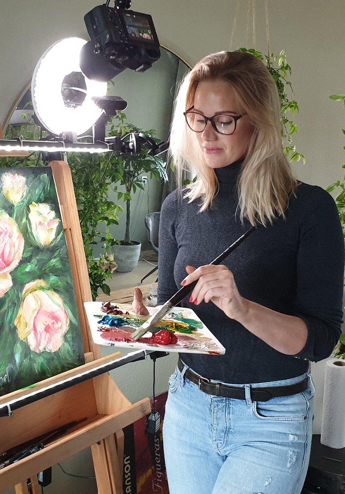Twitch Olie Schilderij Rozen gemaakt door Isabel