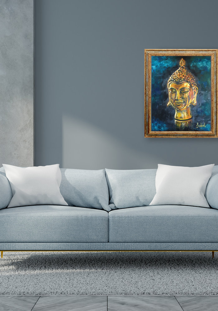 Twitch Oil Painting Buddha made by Isabel
