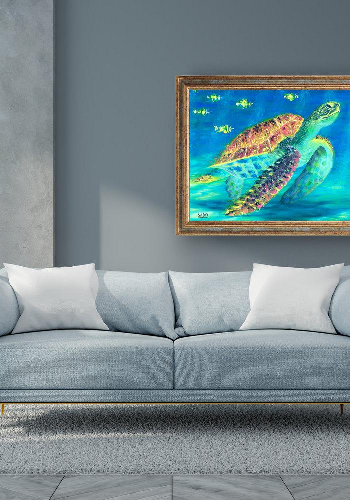 Olie Schilderij Schildpad gemaakt door Isabel