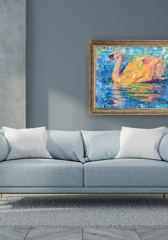 Oil Painting Swan made by Isabel