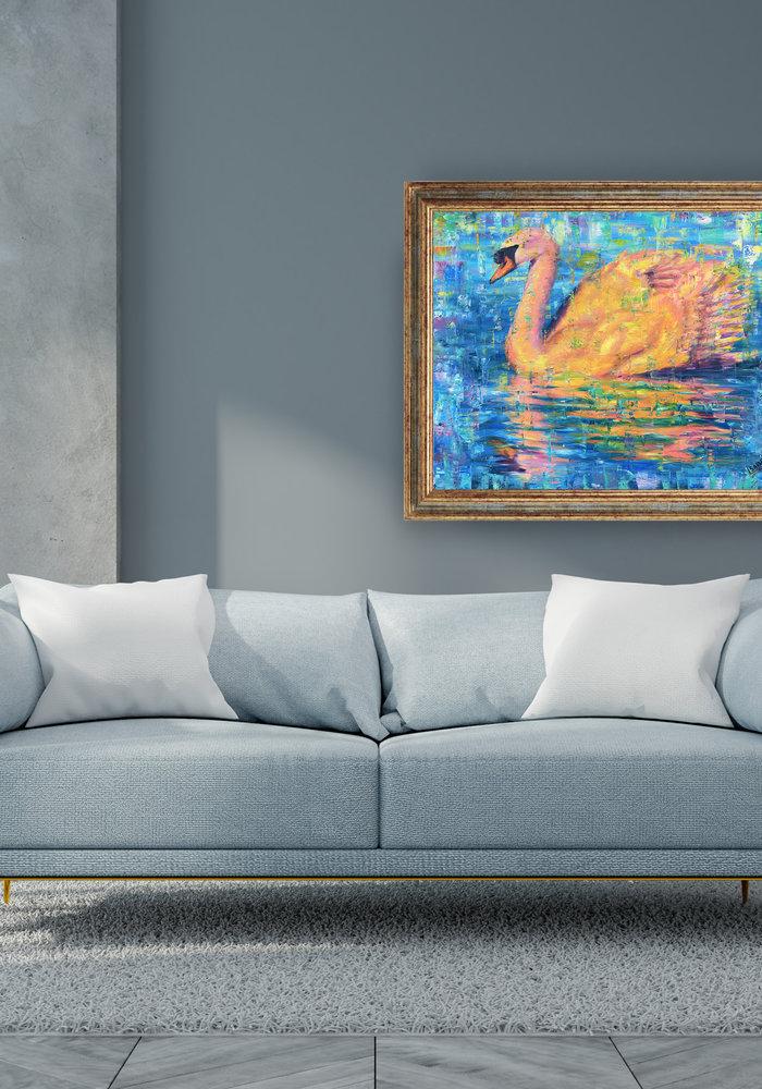 Olie Schilderij Zwaan gemaakt door Isabel