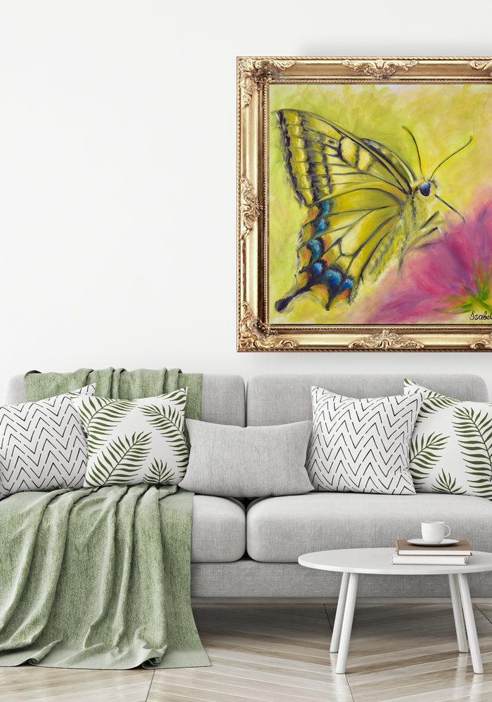Olie Schilderij Vlinder gemaakt door Isabel