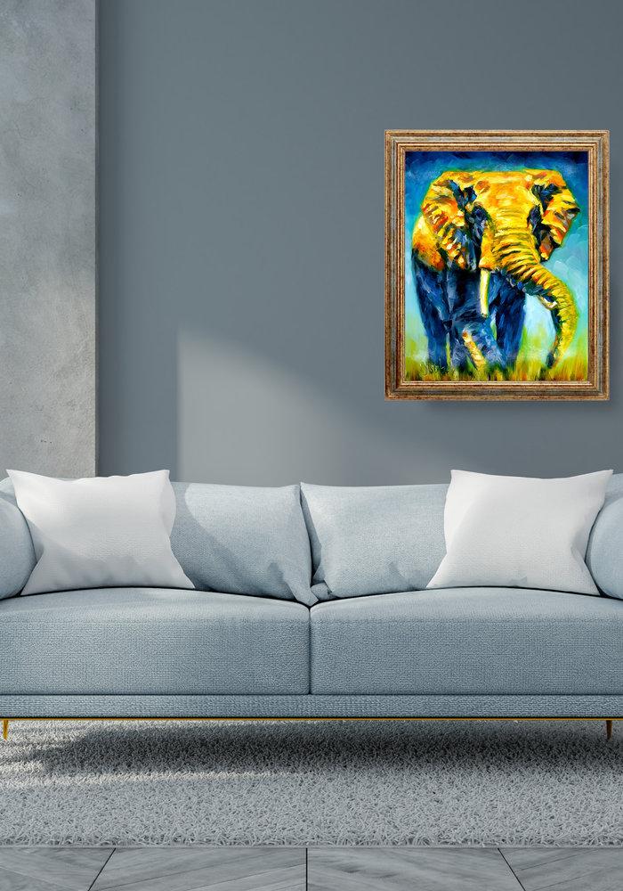 Olie Schilderij Olifant gemaakt door Isabel