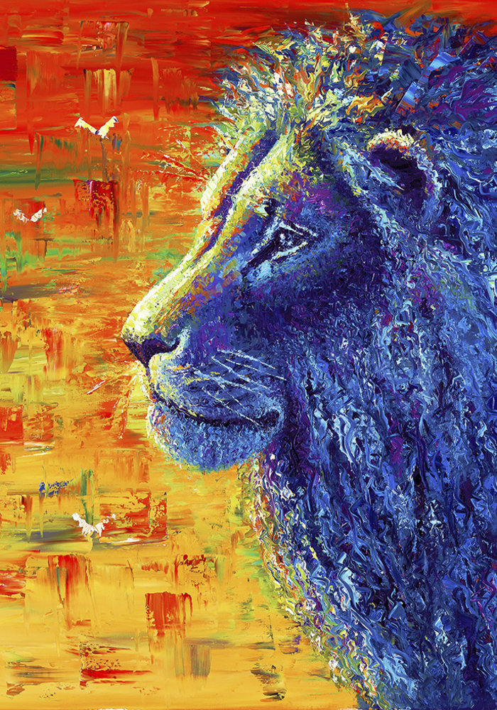 Oil Painting Lion made by Isabel