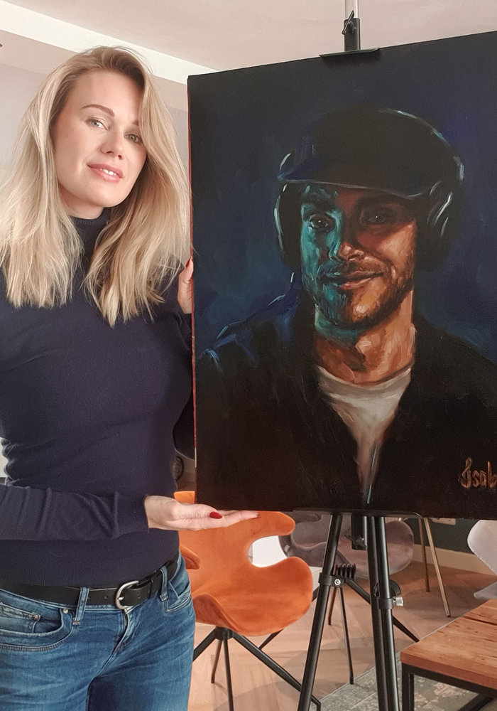 Youtube Oil Painting ASMR Zeitgeist made by Isabel