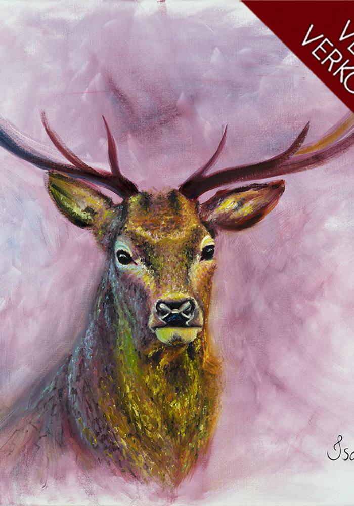 Olie Schilderij Hert gemaakt door Isabel