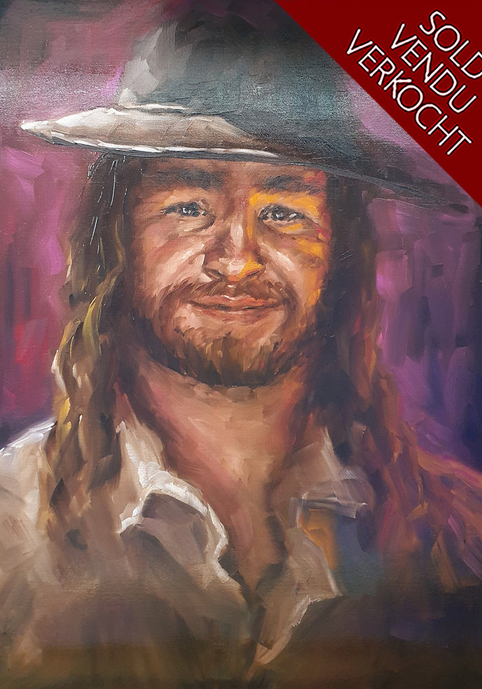 Youtube Oil Painting FredsVoice made by Isabel