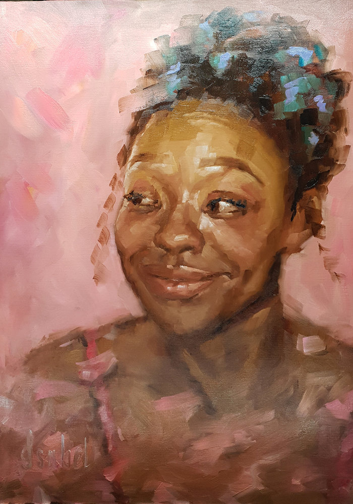 Oil Painting Portrait made by Isabel