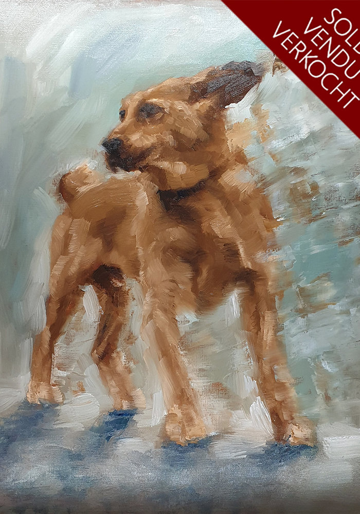 Youtube Oil Painting Dog made by Isabel